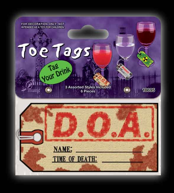 Toe Tags For Drinks