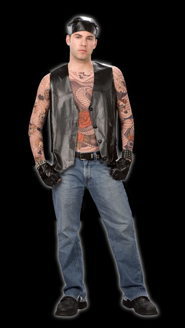 Born Free Tattoo Biker Costume