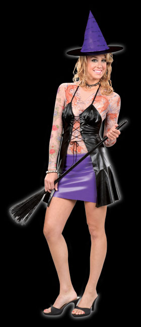 Marked Magic Tattoo Witch Costume