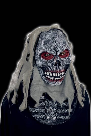Torn Hooded deluxe Skull mask