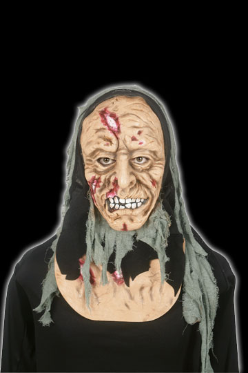 Deluxe Hooded Zombie Mask