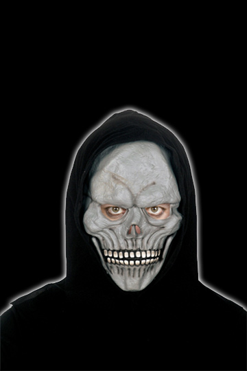 Gray Hooded Skull Mask