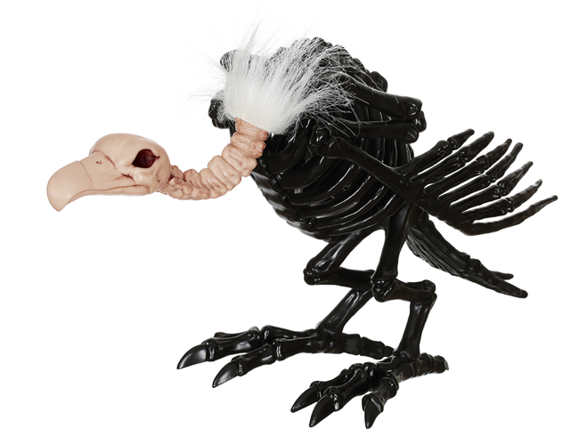 Crazy Bonez Skeleton Vulture - Black
