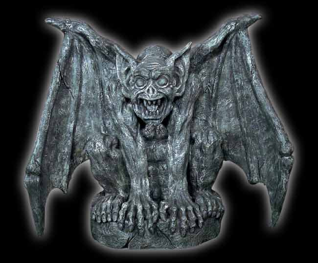 Gargoyle on Stone - 20""