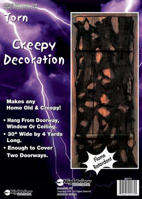 Black Creepy Cloth