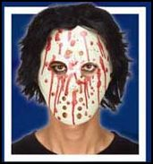 Bloody Hockey Mask With Hair