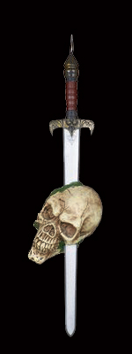 Impaled Skull on Knights Sword