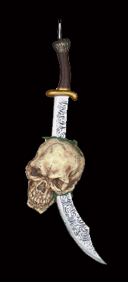 Impaled Skull on Pirate Cutlass