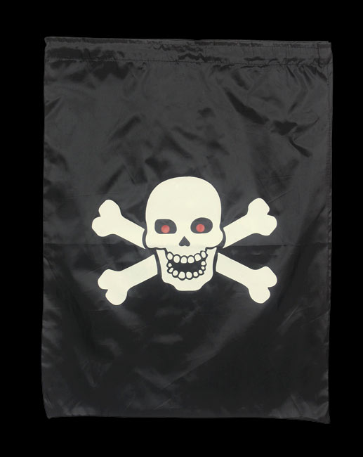 Nylon Skull Trick Or Treat Bag
