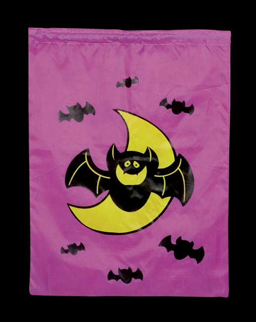 Nylon Bat Trick Or Treat Bag