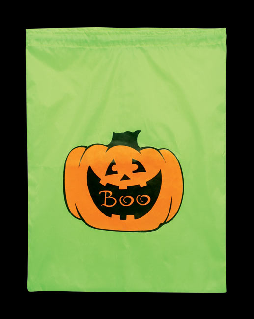 Nylon Pumpkin Trick Or Treat Bag