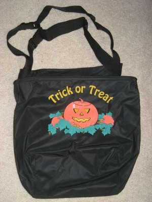Nylon Black Trick or Treat Bag